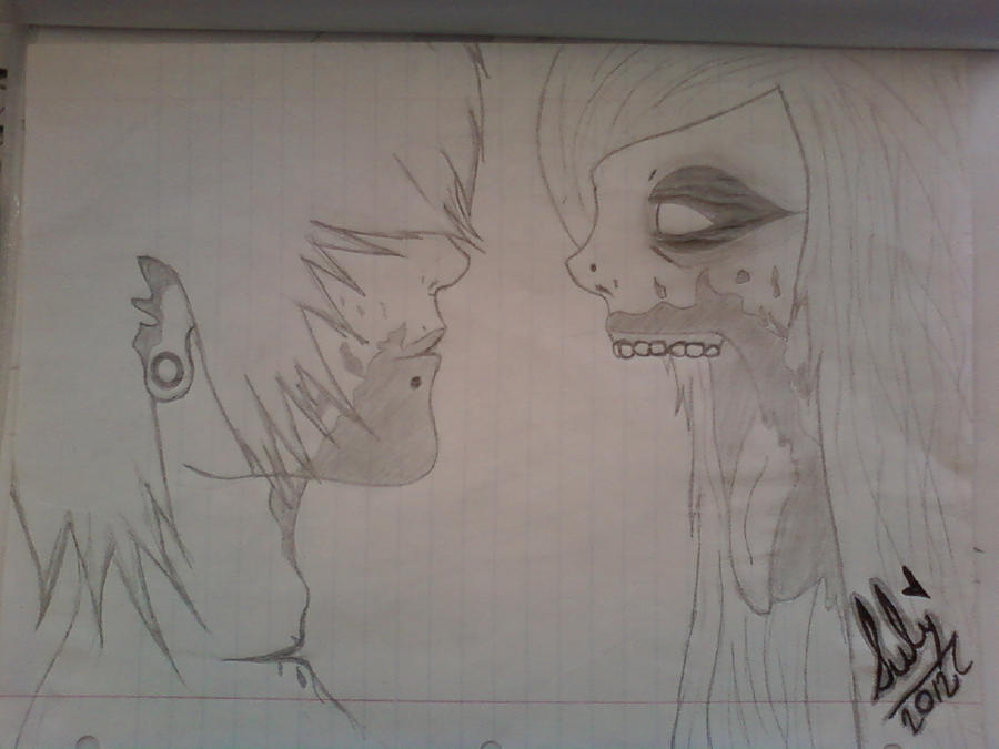 Zombie Face Line Drawing : Zombie couple by immisszombie on deviantart