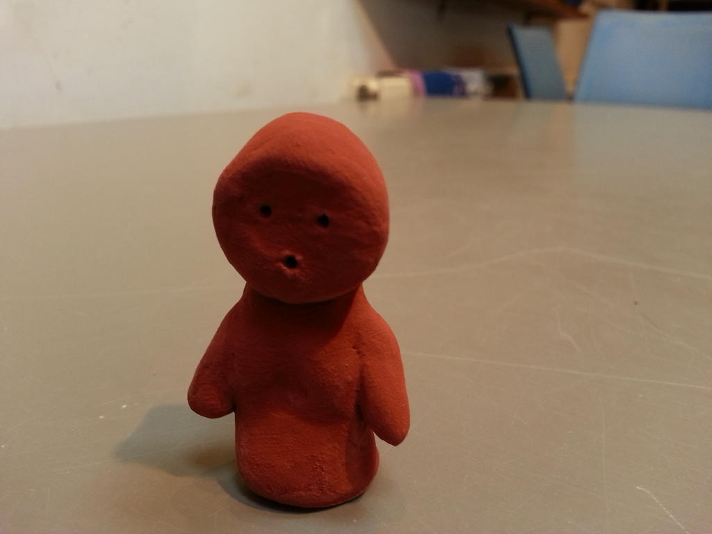 UNFINISHED clay little man by scarlett-stephanie