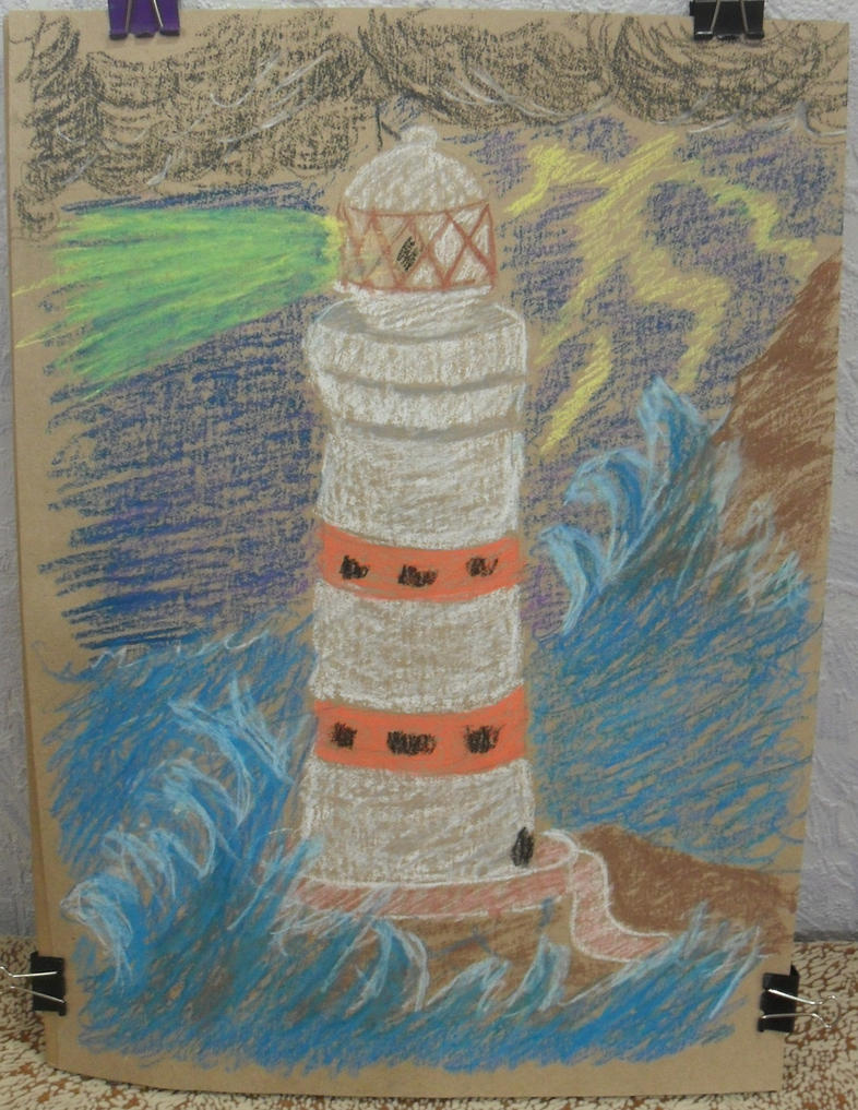 Lighthouse in the storm by edelneos