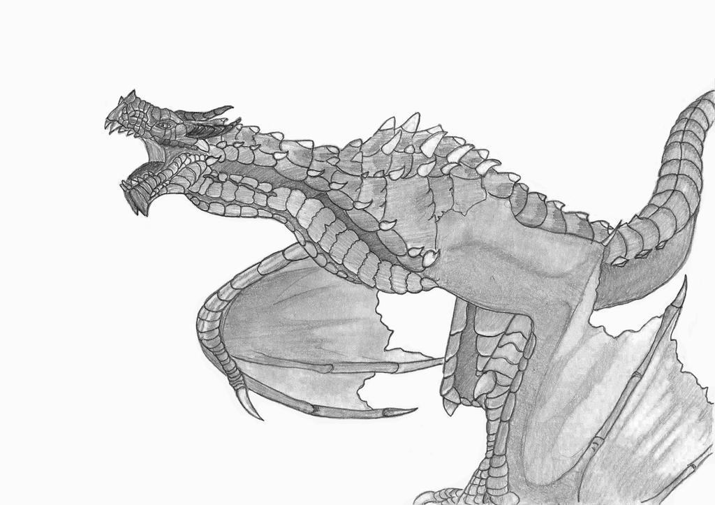 Skyrim Dragon by edelneos
