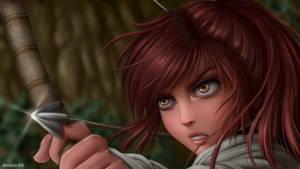 Sasha Braus - Attack on Titan [SpeedPaint] by Amana-HB