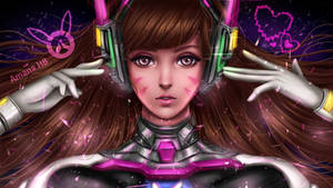 D.Va Overwatch Digital Fanart