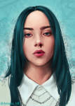 Billie Eilish Portrait by Amana-HB