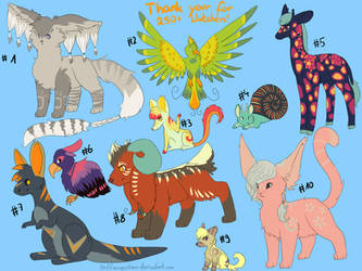 Thank you for 250 Watchers! - Free Adopts CLOSED by Hoffnungsstern