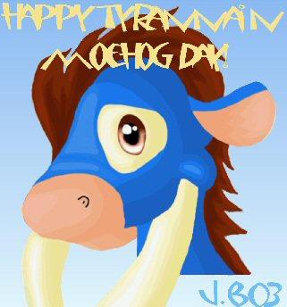 happy tyrannian moehog day.... by flightlessbird