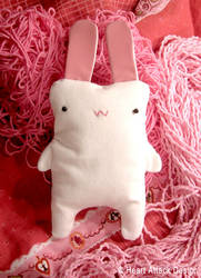 The white rabbit plush by Heart-Attack-Design