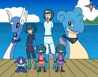 Poke-ninjas: Sea Side Smiles by author92