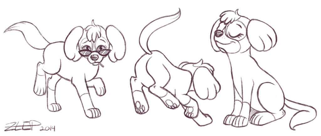 PAW Patrol - Skye sketches by z-leppelin