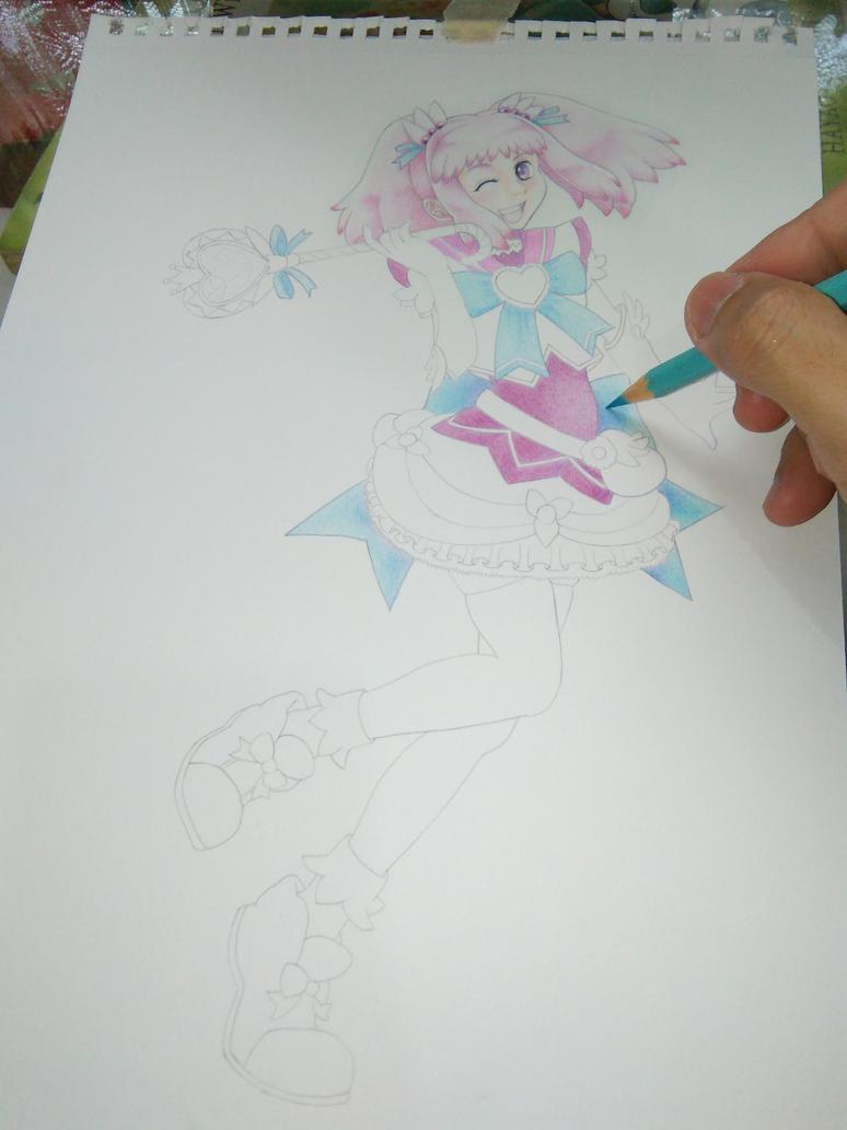 kirameki mamika WIP by KazukiShinta
