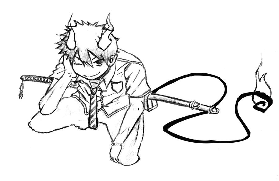 ao no exorcist rin by mikzz19 on deviantart Blue Exorcist Chibi Coloring Pages Tokyo Ghoul Coloring Pages