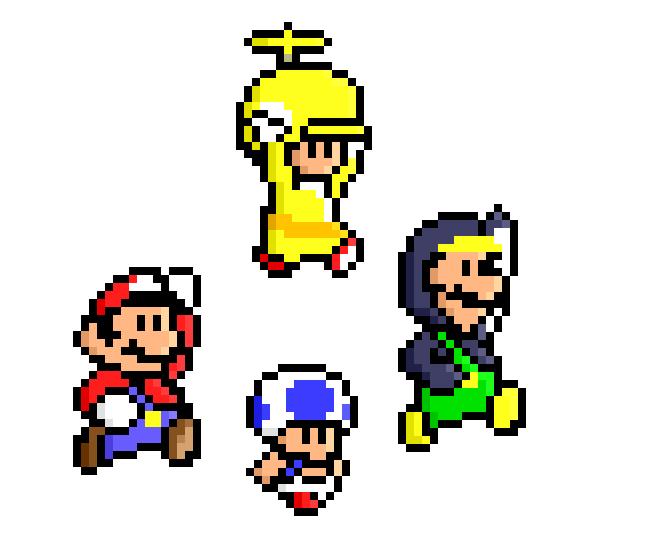 New Super Mario Bros Wii Pixel By Jaaopedro On Deviantart