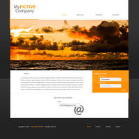 My FICTIVE Company webdesign by JeenyusGraphics
