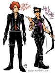 Black Widower and Hawkeye