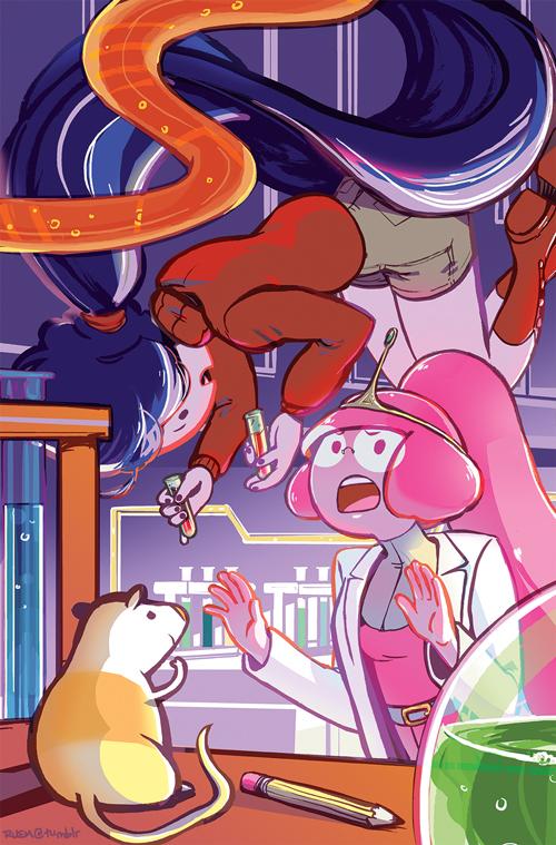 AdventureTime #34 Marceline Bubblegum Cover by Emruki