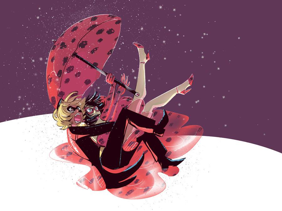 Raining Ladybugs by Emruki