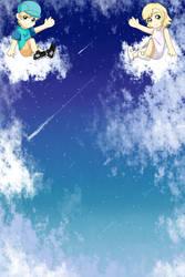 Sitting on Clouds by OokamiOki