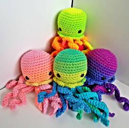 Rainbow Jellyfish Amigurumi by augeeklectic