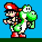 Yoshi and Baby Mario Sprite by thenardsofdoom