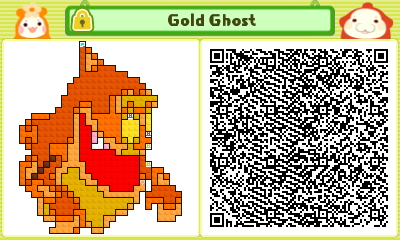 Gold Ghost Pushmo Card by thenardsofdoom
