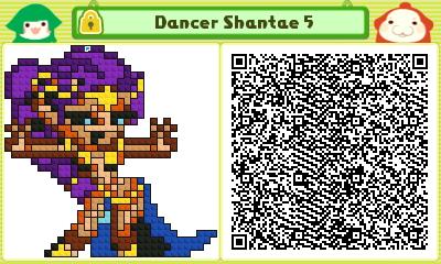 Dancer Shantae 5 Pushmo Card by thenardsofdoom