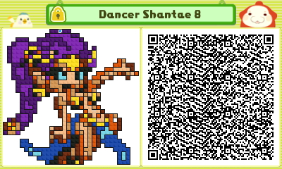 Dancer Shantae 8 Pushmo Card by thenardsofdoom