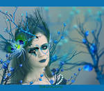 Snowy Blueish Beautiful  People Photo Manipulation