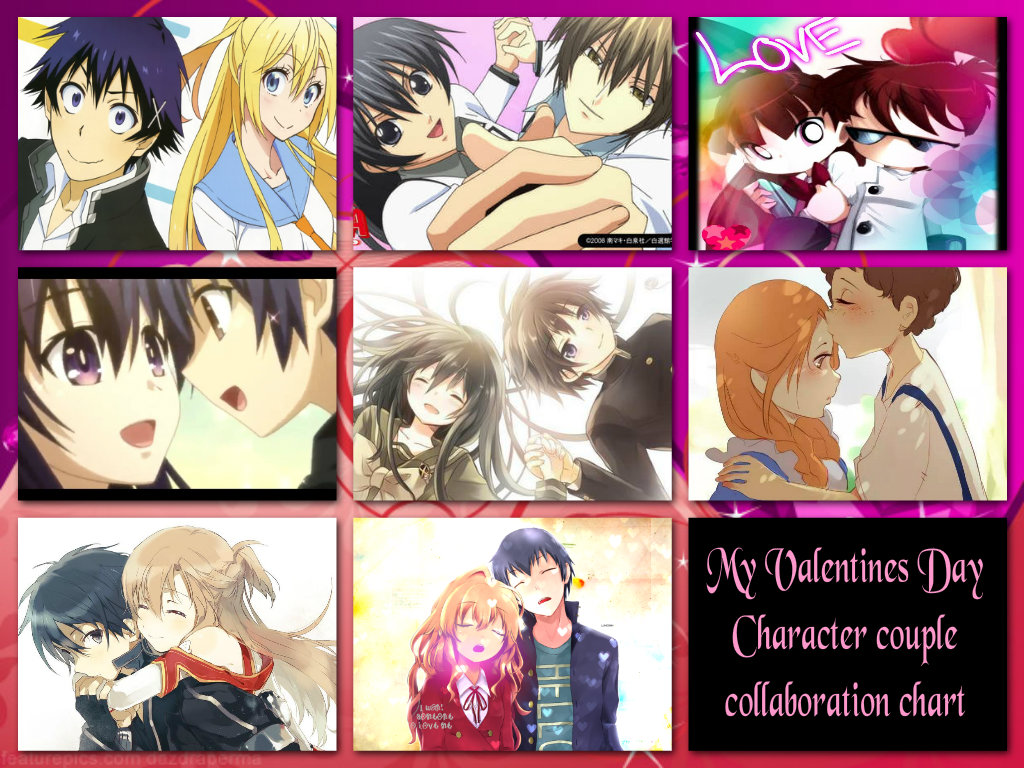 My Valentines Day  Character couple  collab. Chart by snitchpogi12