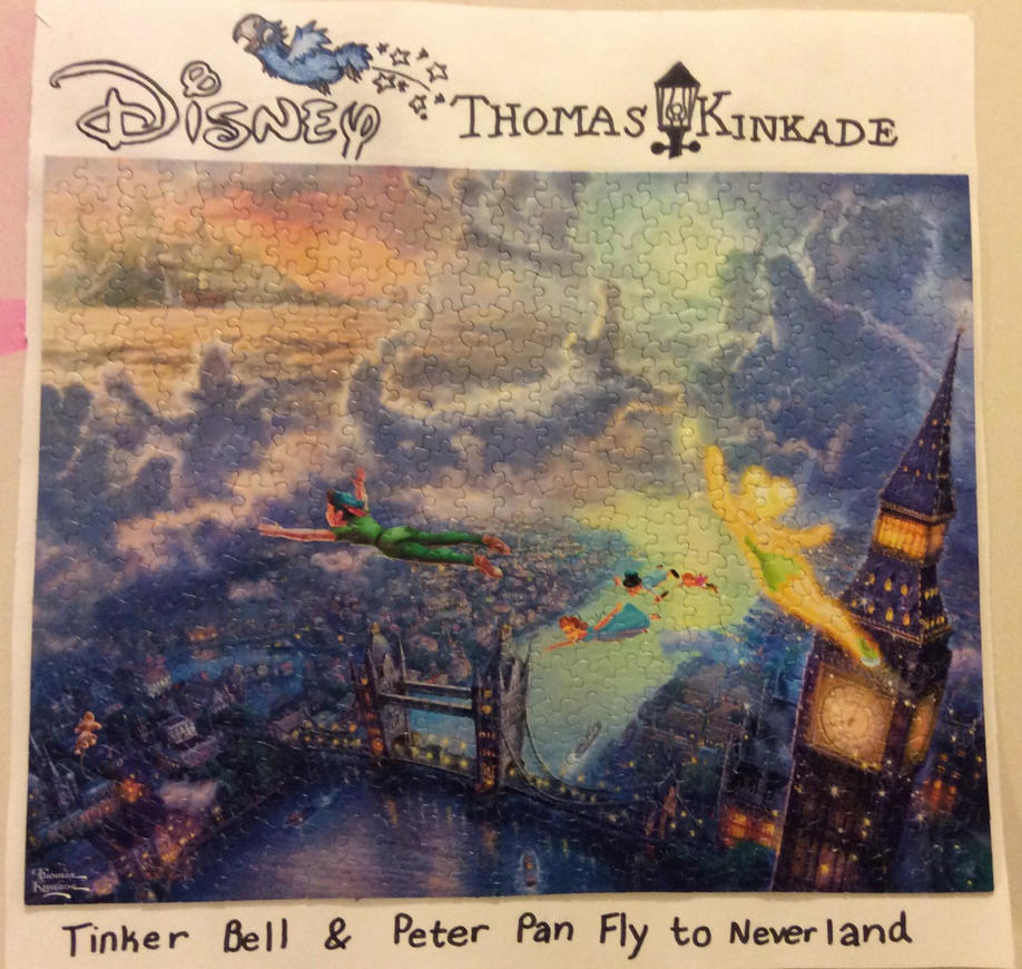 Tinker Bell And Peter Pan Fly To Neverland Puzzle By Joshbluemacaw