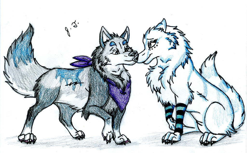 Trade - Canine Pictures - Nanu and Maya by joshbluemacaw