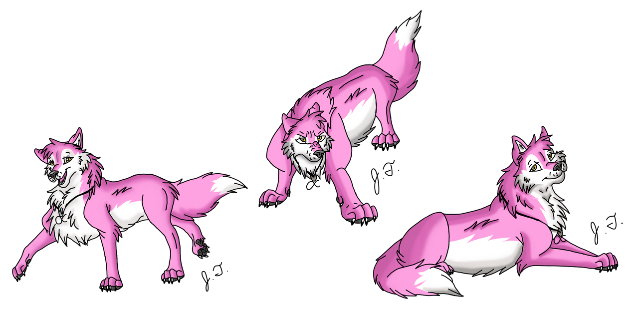 Lupa Poses by joshbluemacaw