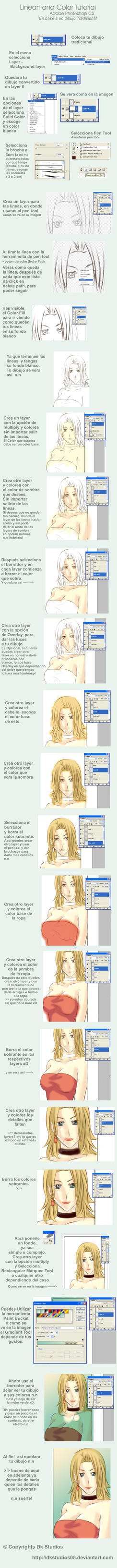lineart and color Tutorial by DKSTUDIOS05