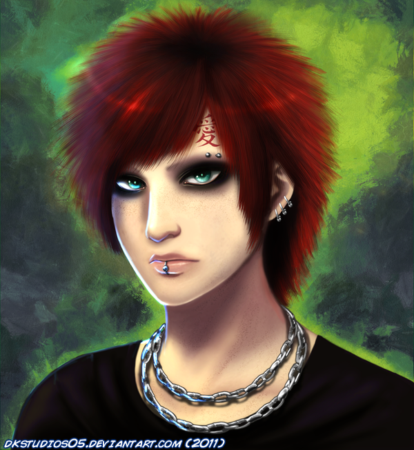 Gaara Portratit COMMISSION By DKSTUDIOS05 On DeviantArt