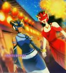 Korra Asami COMMISSION by DKSTUDIOS05