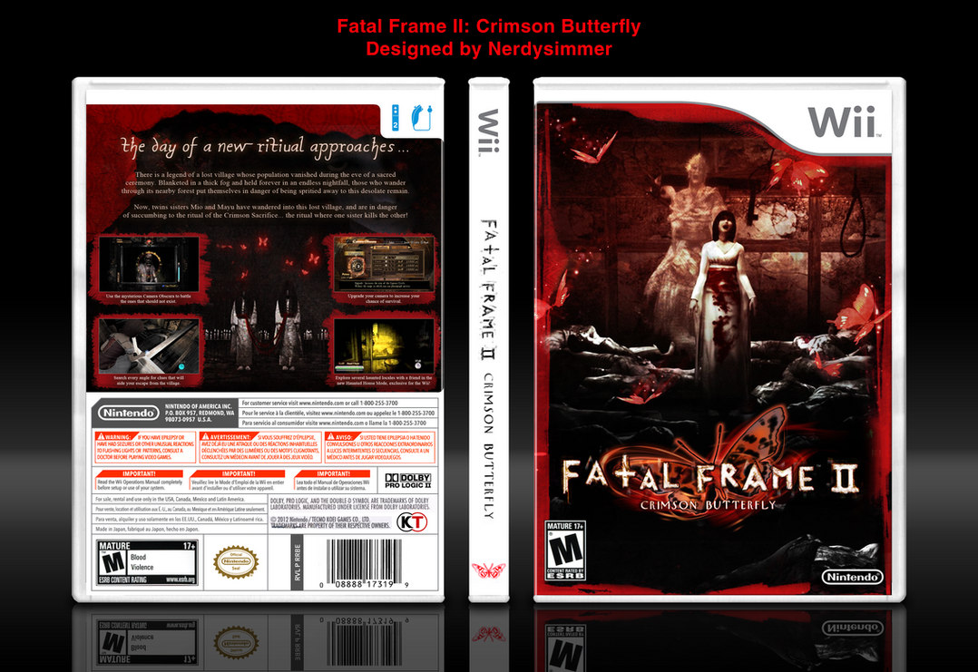 Fatal Frame II Crimson Butterfly Wii Edition Cover by NerdySimmer
