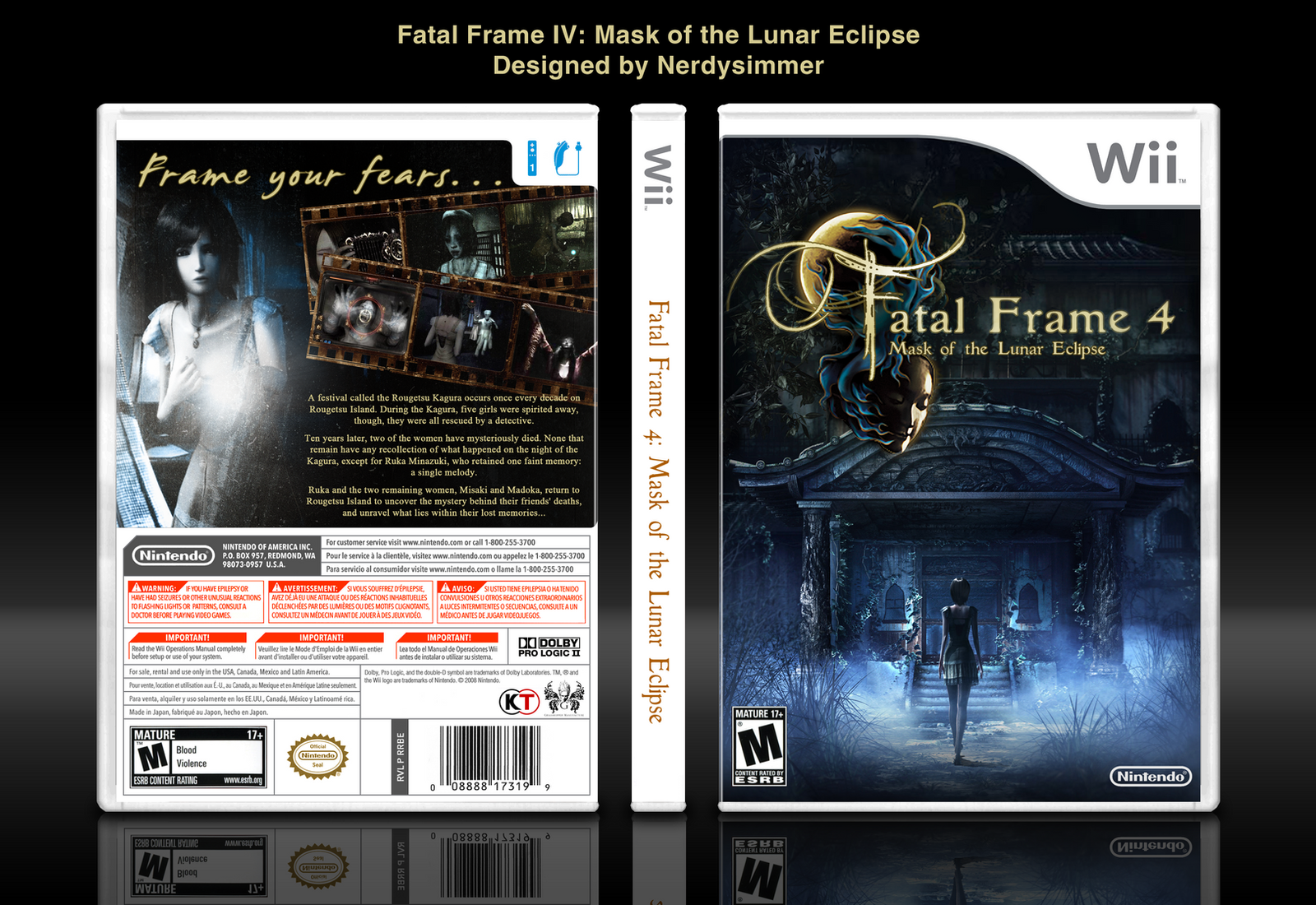 Fatal Frame IV Mask of the Lunar Eclipse boxart by NerdySimmer on ...