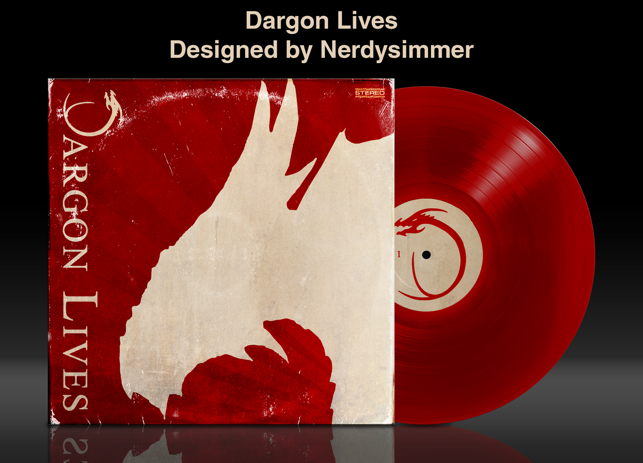 Dargon Lives Vinyl Mockup by NerdySimmer