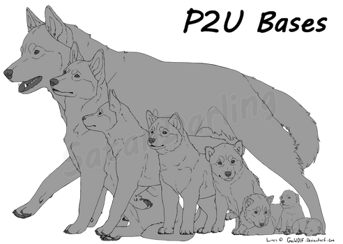 P2U: Canine Growth Base by SatanDarling