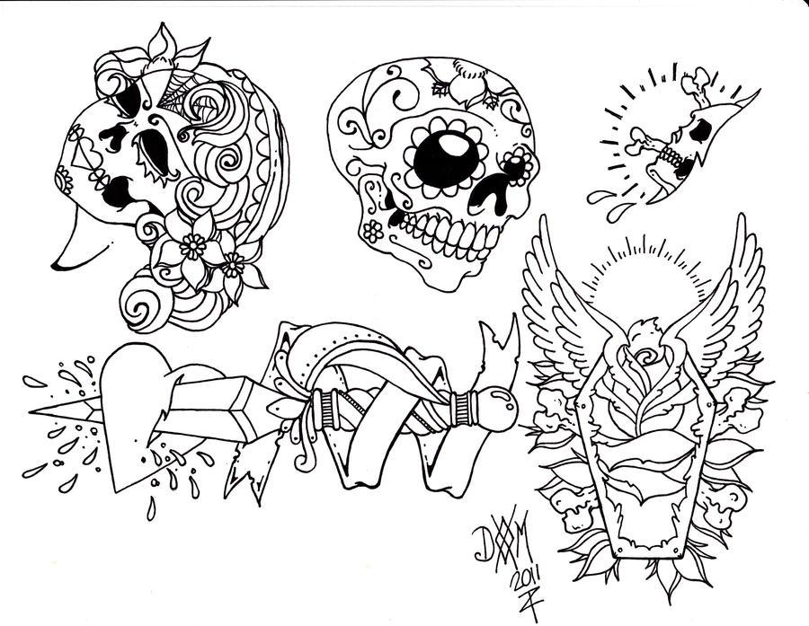 Line Drawing Tattoo Flash : Tattoo flash by danmcneil on deviantart