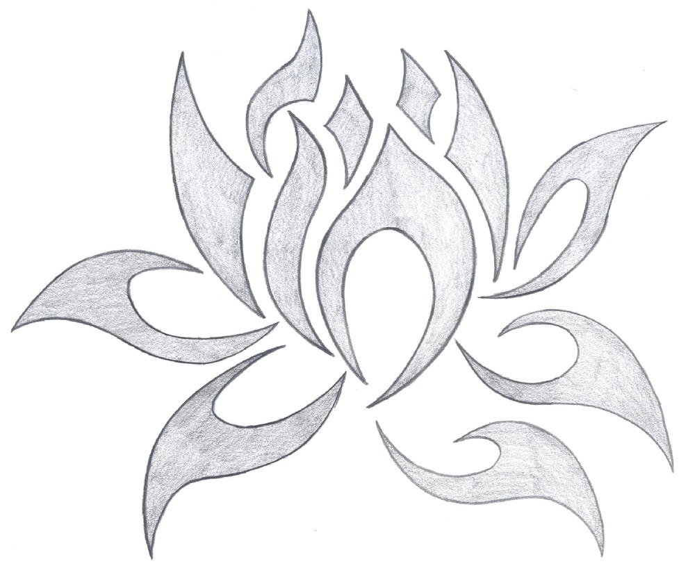 Tribal Lotus By Fallensamurai22 On Deviantart