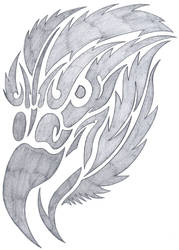 tribal eagle by fallensamurai22
