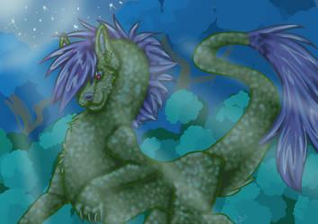 Night dragon by konekotsukino87