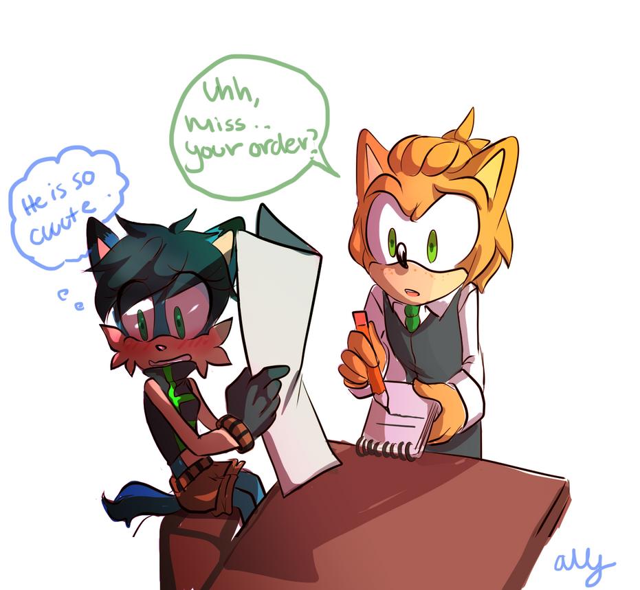That cute waiter by Alliizoo