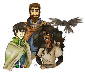 Lief, Barda, and Jasmine by SixofClovers