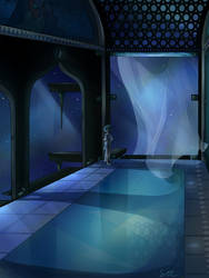 Blue Diamond Court by SixofClovers