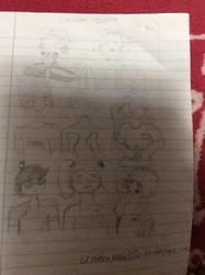 drawing random kids in my school