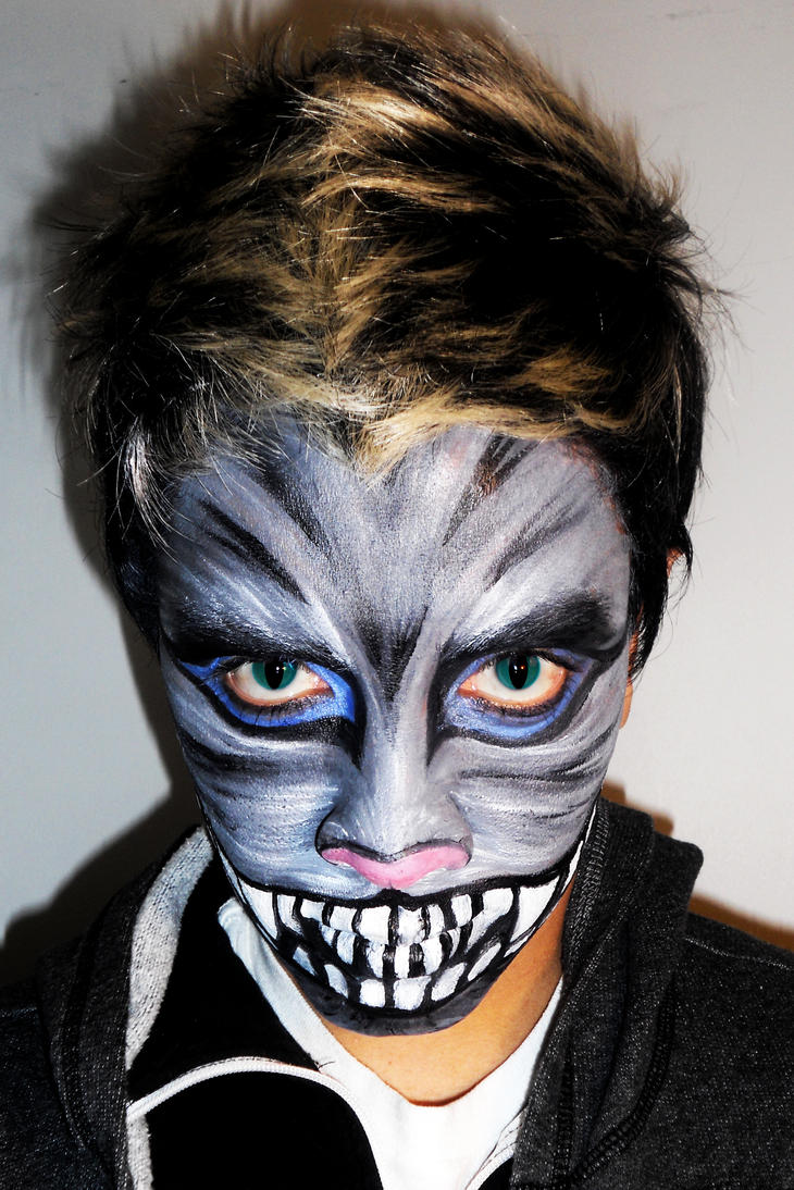 Day Of The Dead Makeup For Men Cheshire the cat makeup by