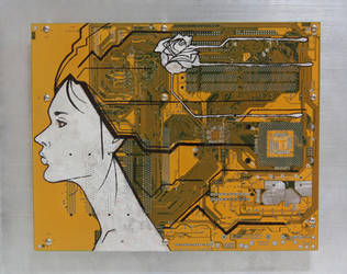 Cameo - motherboard painting by AisuruMirai