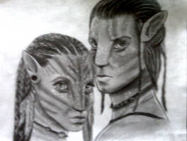 Avatar - Jake and Neytiri by BrokenBetrayal