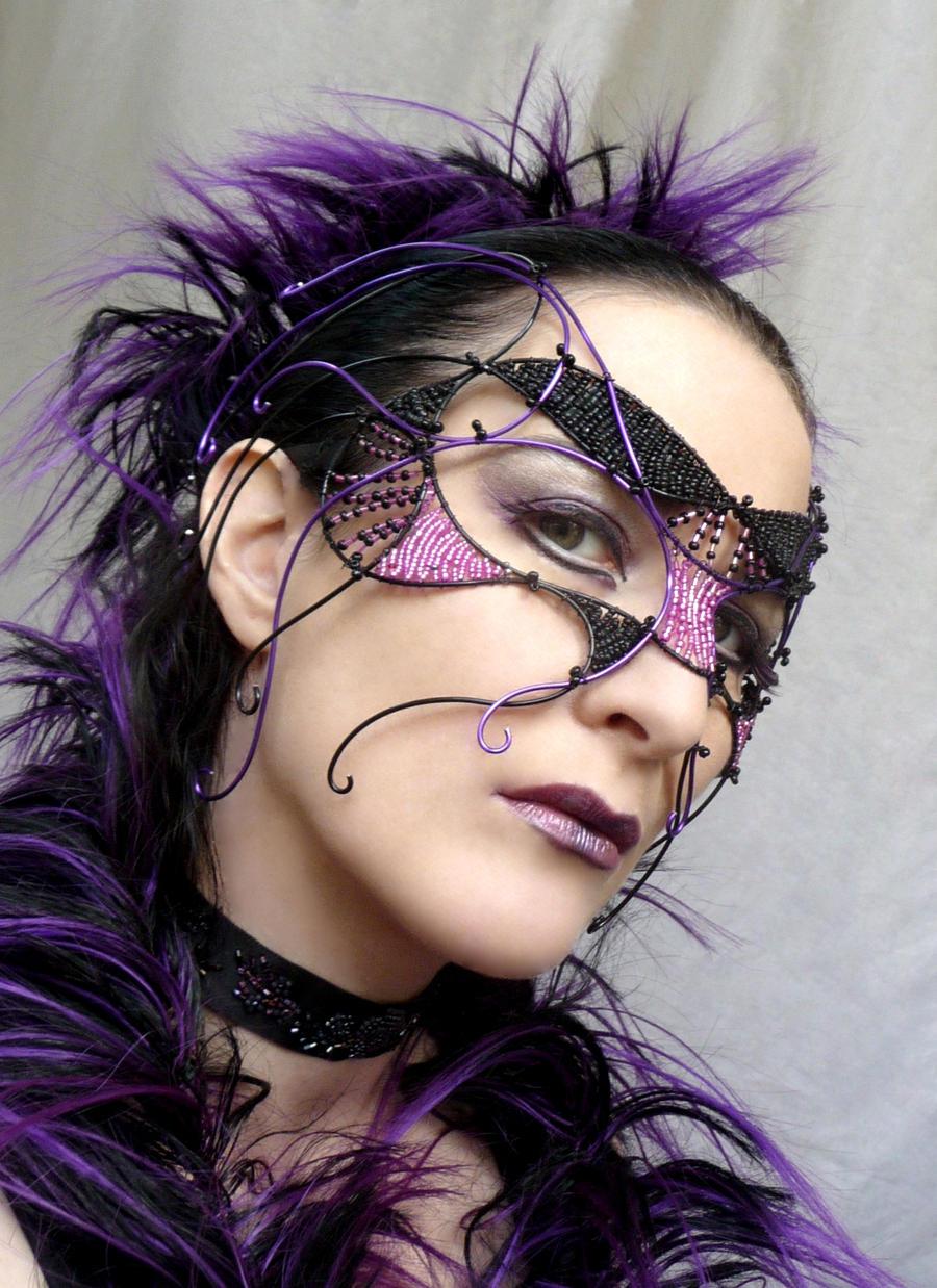 Cyber gothic mask by gringrimaceandsqueak