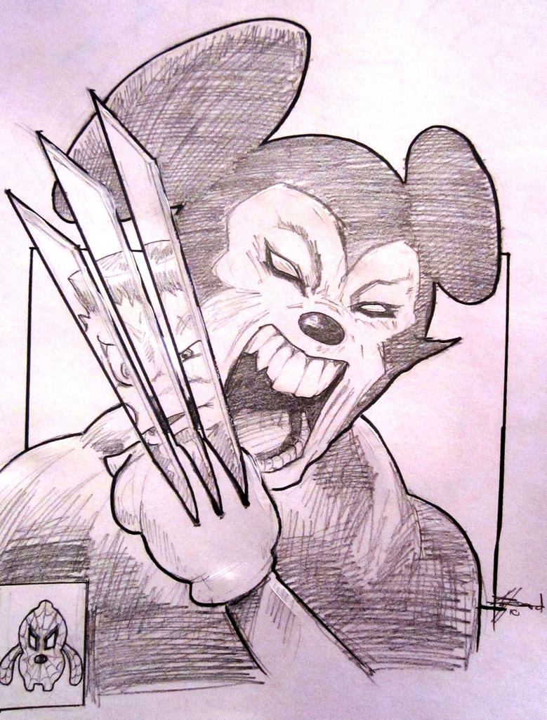 Marvel Disney Sketch by Bardsville